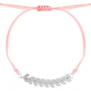 Trendy armbandjes Rose peach-zilver