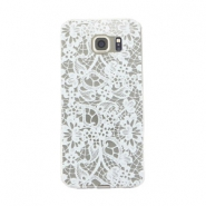 Telefoonhoesjes voor Samsung Galaxy S6 lace Transparant - wit