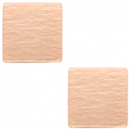20 mm platte vierkante cabochon Polaris Elements Light blush pink