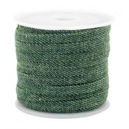 Trendy plat koord denim 5mm Dark green