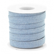 Trendy plat koord denim 10mm Light blue