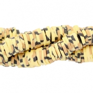 Katsuki kralen animal print 3mm Yellow-brown-black