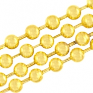 DQ ball chain / bolletjesketting 2mm DQ Gold plated