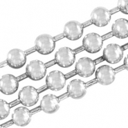 DQ ball chain / bolletjesketting 2 mm DQ Antiek Silver plated duurzame plating