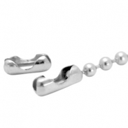 DQ slotje ball chain voor 2 mm ketting DQ Antiek Silver plated duurzame plating