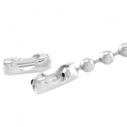 DQ slotje ball chain voor 4.5 mm ketting DQ Silver plated duurzame plating