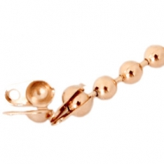 DQ eindkapje voor 1.2 mm ball chain DQ Rose Gold plated duurzame plating