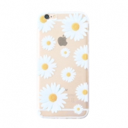 Trendy telefoonhoesjes voor iPhone 7 daisies Transparent-white yellow