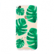 Trendy telefoonhoesjes voor iPhone 6 Plus palm leaf Transparent-green