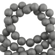 Hematite kralen rond 10mm mat Anthracite grey