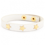 Trendy armbanden reptile met studs gold star Off white