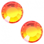 Swarovski Elements SS 34 flat back  (7mm) Fire opal orange