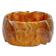 DQ acryl Polaris armband carved Topaz brown