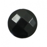 DQ acryl kralen plat rond 24mm facet Black