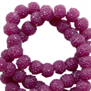 Sparkling beads 8mm Butterfly purple