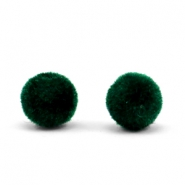 Velvet pompom kralen 6mm Dark green