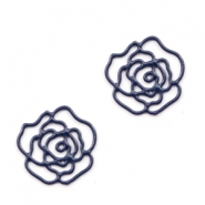 Tussenstukken bohemian rose 10mm Nightshadow blue