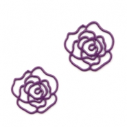Tussenstukken bohemian rose 10mm Aubergine purple