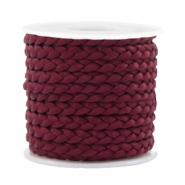 Trendy plat koord gevlochten silk style 5mm Port red