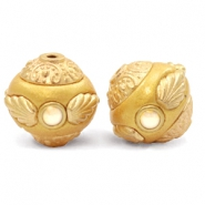 Bohemian kralen 14mm Golden coast yellow-gold