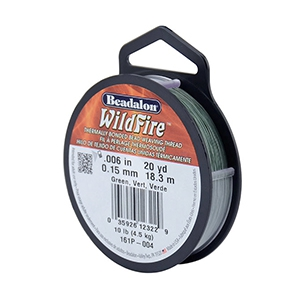 Beadalon Wildfire wire 0.15mm Green