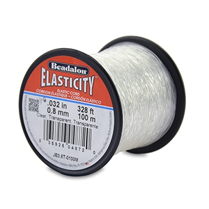 Beadalon elastiek rijgdraad 0.8mm 100 meter Clear