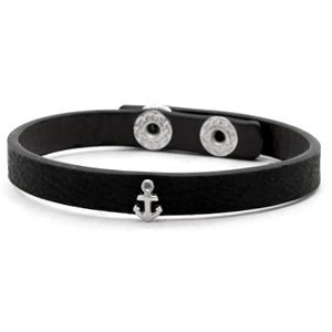 Trendy armbanden stud anchor Black