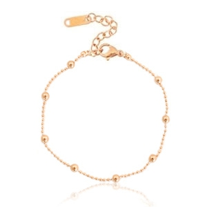 Roestvrij stalen (RVS) Stainless steel armbanden ball chain Rose gold