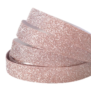 Crystal glitter tape 10mm Vintage rose