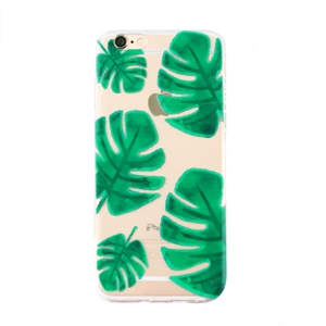 Trendy telefoonhoesjes voor iPhone 5 palm leaf Transparent-green